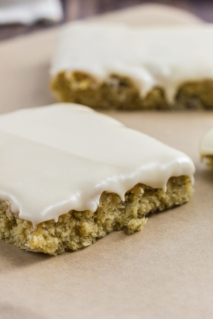 Frosted Banana Bars