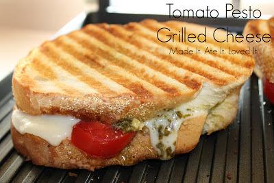 Tomato Pesto Grilled Cheese