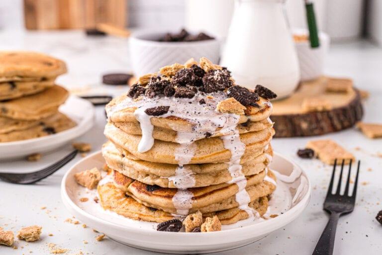 Peanut Butter S'more Pancakes