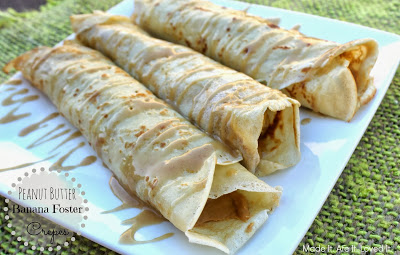 Peanut Butter Banana Foster Crepes