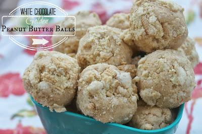 White Chocolate Golden Peanut Butter Balls