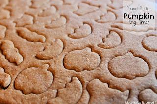 Peanut Butter Pumpkin Dog Treat