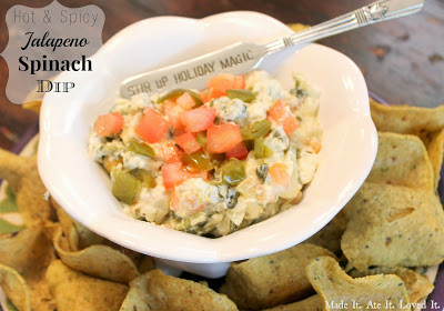 Hot and Spicy Jalapeño Spinach Dip