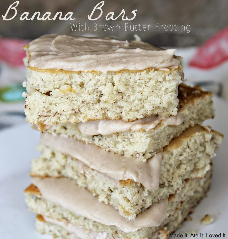 Banana Bars with Brown Butter Frosting