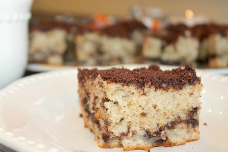 Chocolate Swirl Banana Bread Coffee Cake