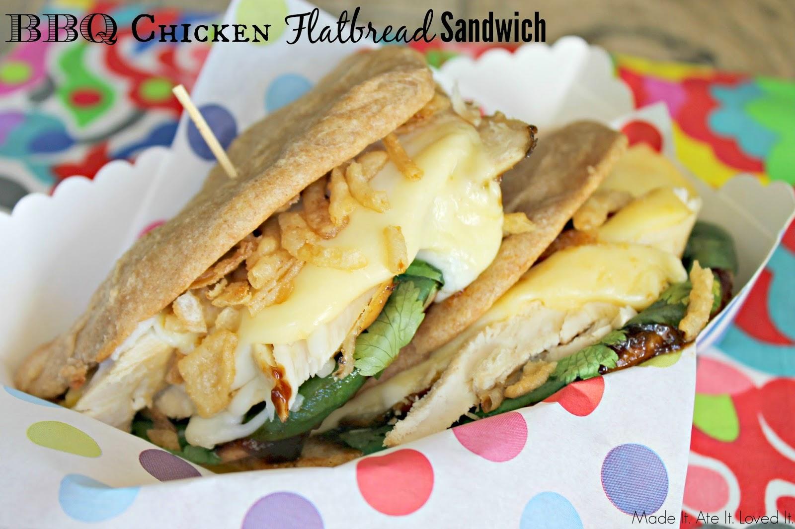BBQ Chicken Flatbread Sandwich