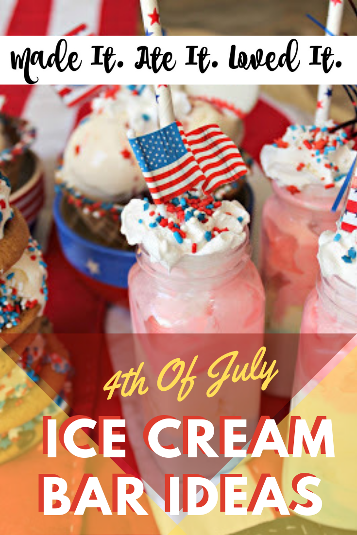 4th of july ice cream bar ideas