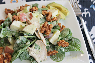 Grilled Chicken Salad with Candied Walnuts