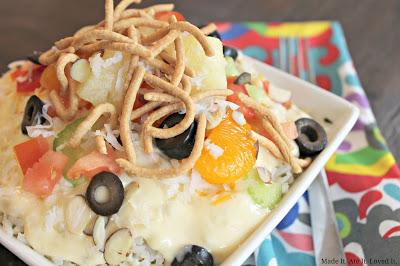 Creamy Chicken Hawaiian Haystacks