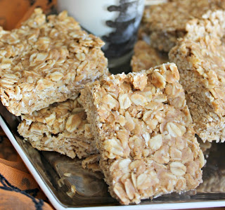 No Bake Pumpkin Peanut Butter Oat Bars