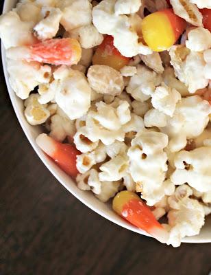 White Chocolate Halloween Popcorn