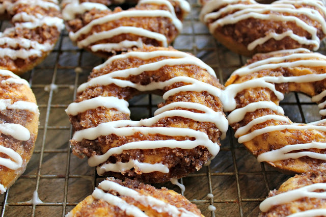 Pumpkin Crumb Doughnuts with Brown Butter Frosting