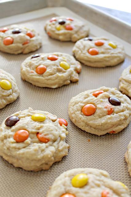 White Chocolate Reese's Cookies