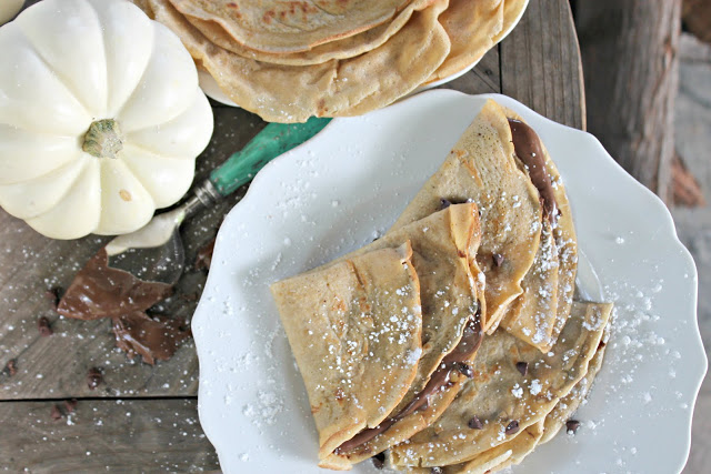 Pumpkin Chocolate Chip Crepes