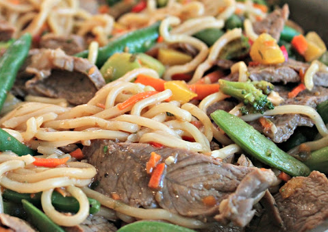 EASY Sesame Beef and Noodle Stir Fry