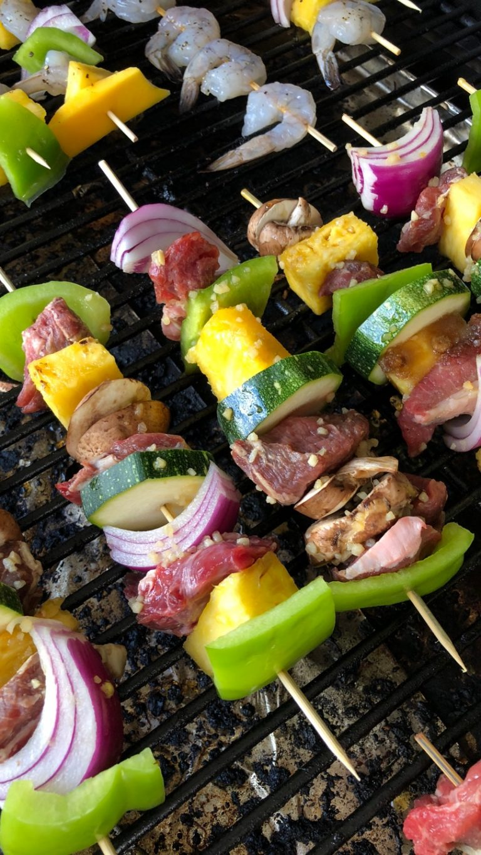 The BEST Hawaiian Steak Kabobs