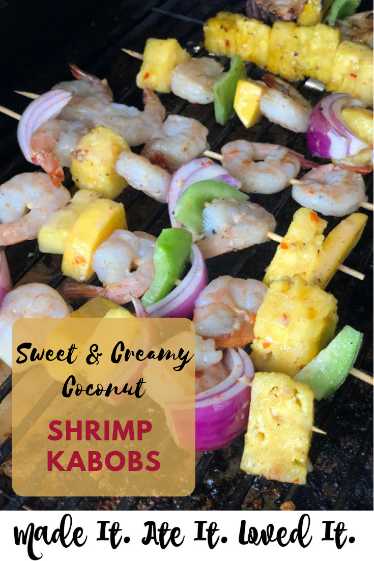 Sweet and Creamy Coconut Shrimp Kabobs These are the BEST Shrimp kabobs out there. They are family friendly and can be eaten by all ages #summerrecipes #grilledfood #madeitateitlovedit