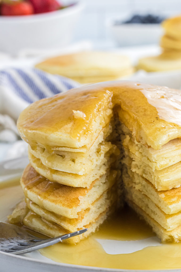 Buttermilk Pancakes with Buttermilk Syrup