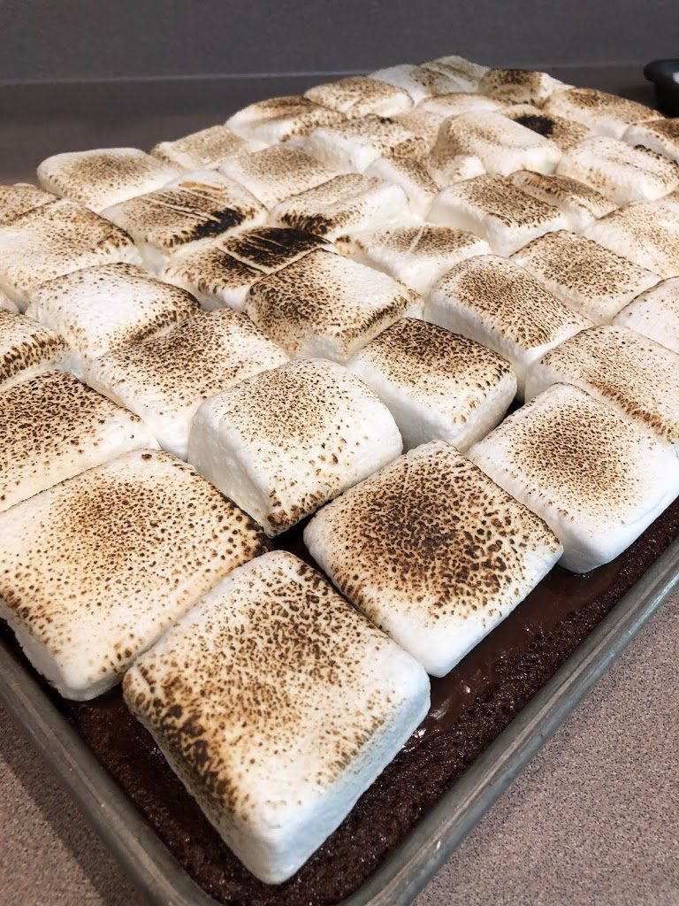 Yummy S'more Texas Sheet Cake