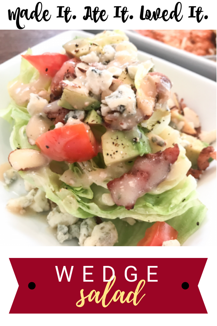 Wedge Salads have always been a favorite of mine to order at restaraunts. After ordering them weekend after weekend on date night I decided one night to whip up my own. I did not realize how simple and potentially cheap and fast wedge salads were to make! #madeitateitlovedit #wedgesalad #eathealthy