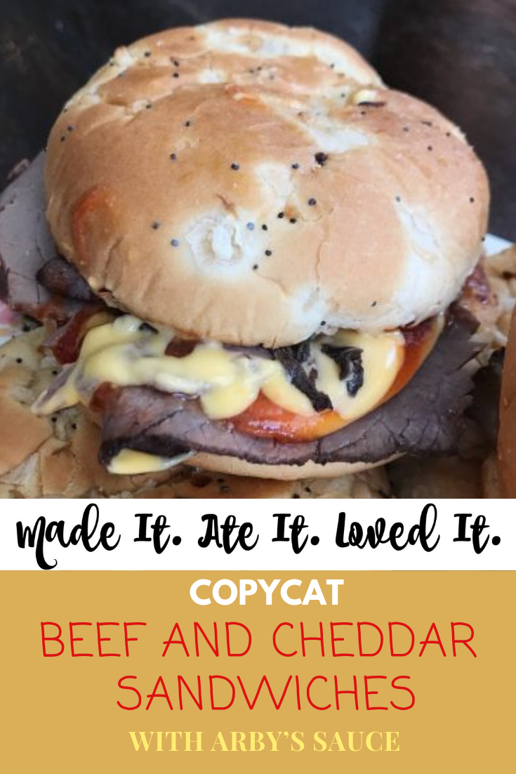 Copycat Arby's Beef and Cheddar Sandwiches with Arby's Sauce