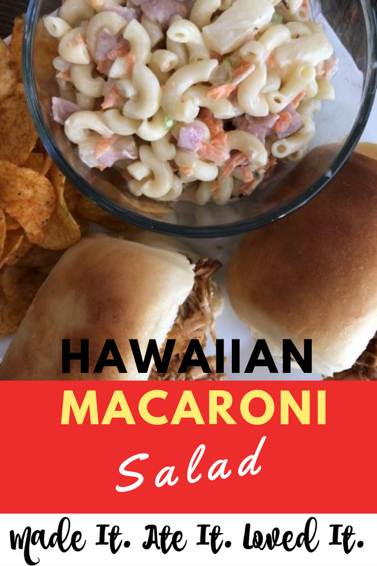 Are you wondering how to make macaroni salad? Here are some ways to make an easy macaroni salad with easy ingredients. I was looking for the best macaroni salad recipe and luckily my neighbor found a pretty dang delicious one for me! #madeitateitlovedit #sidedish #easyrecipe #hawaiianrecipe