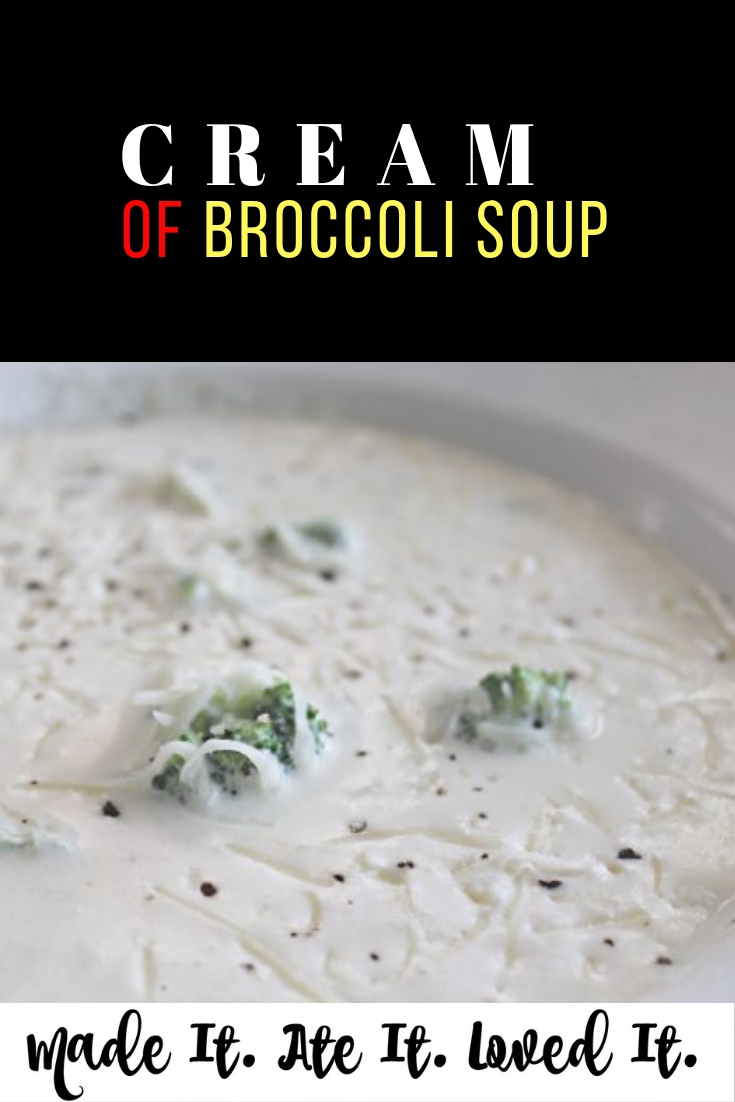 Looking for an old fashion cream of broccoli soup. Similar to the Cream of Broccoli Soup by Jamie Oliver or similar to Panera Cream of Broccoli Soup #souprecipe #copycatrecipes #creamofbroccoli #madeitateitlovedit