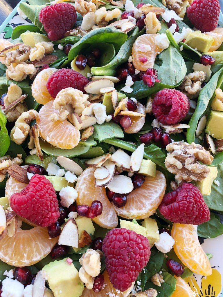 Wintertime Spinach Salad