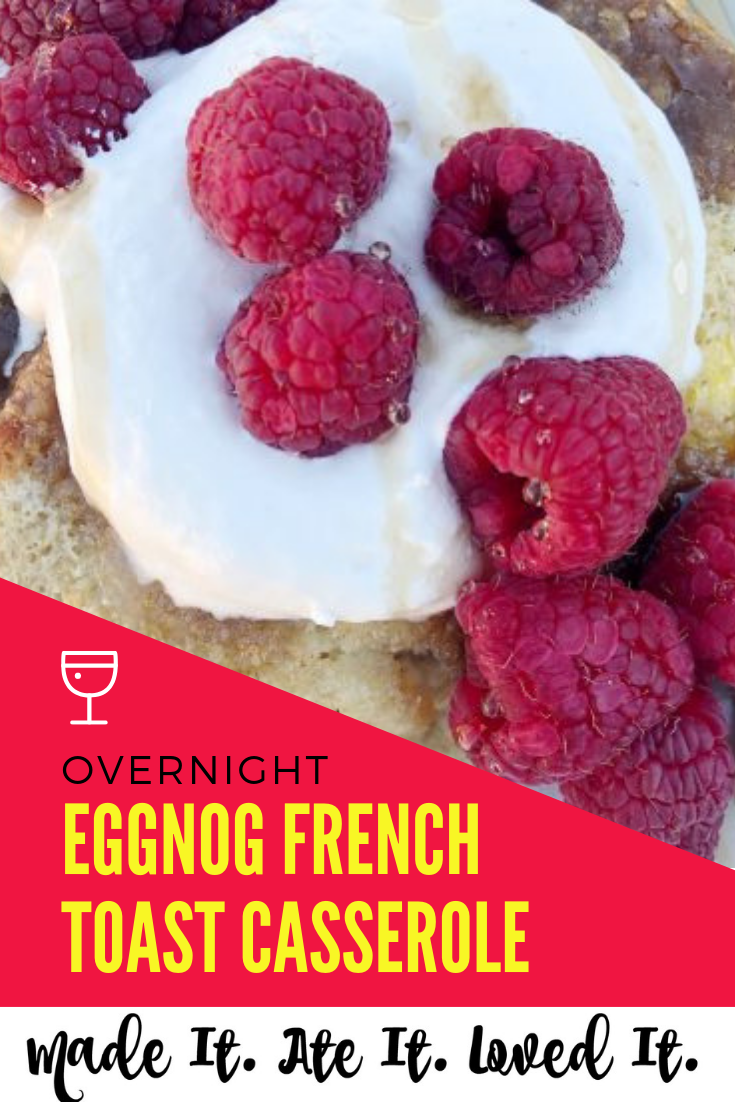 This eggnog French toast was first seen on the Food Network Channel! I have been wanting to recreate it ever since! And I finally did! #madeitateitlovedit #frenchtoast #breakfastrecipes #deliciousmeals