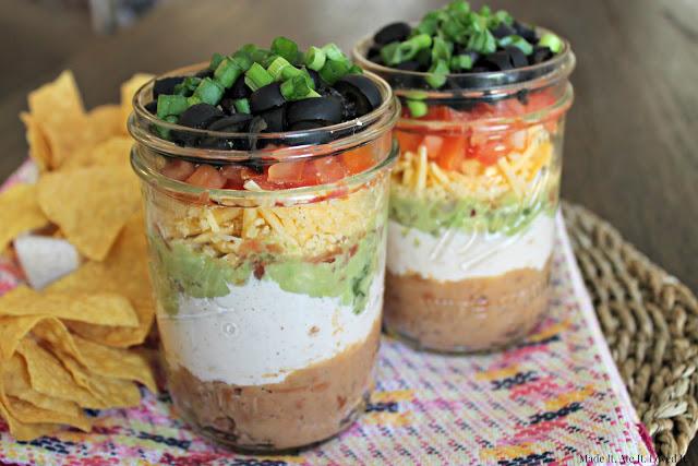 7 layer Dip in a Jar