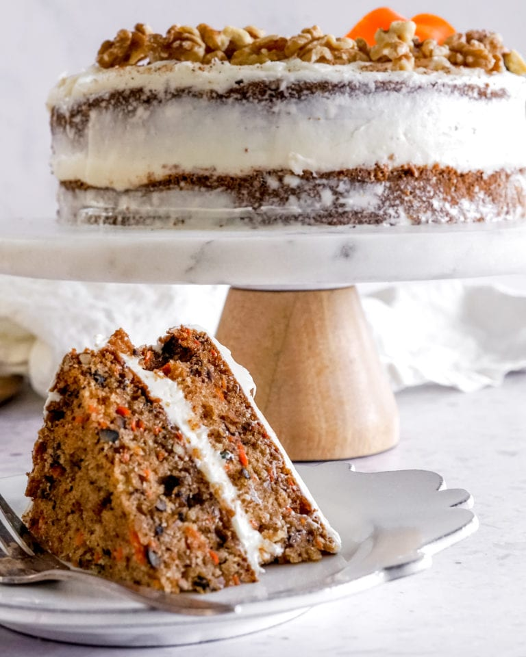 Carrot Cake with Thick Cream Cheese Frosting