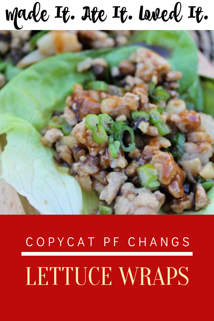 PF Changs and Pei Wei Lettuce Wraps are easily made right at home! These healthy chicken lettuce wraps with the perfect lettuce wrap sauce is right here! #madeitateitlovedit #easymeals #chinesefood #copycatrecipe #pfchangs #appetizerrecipe
