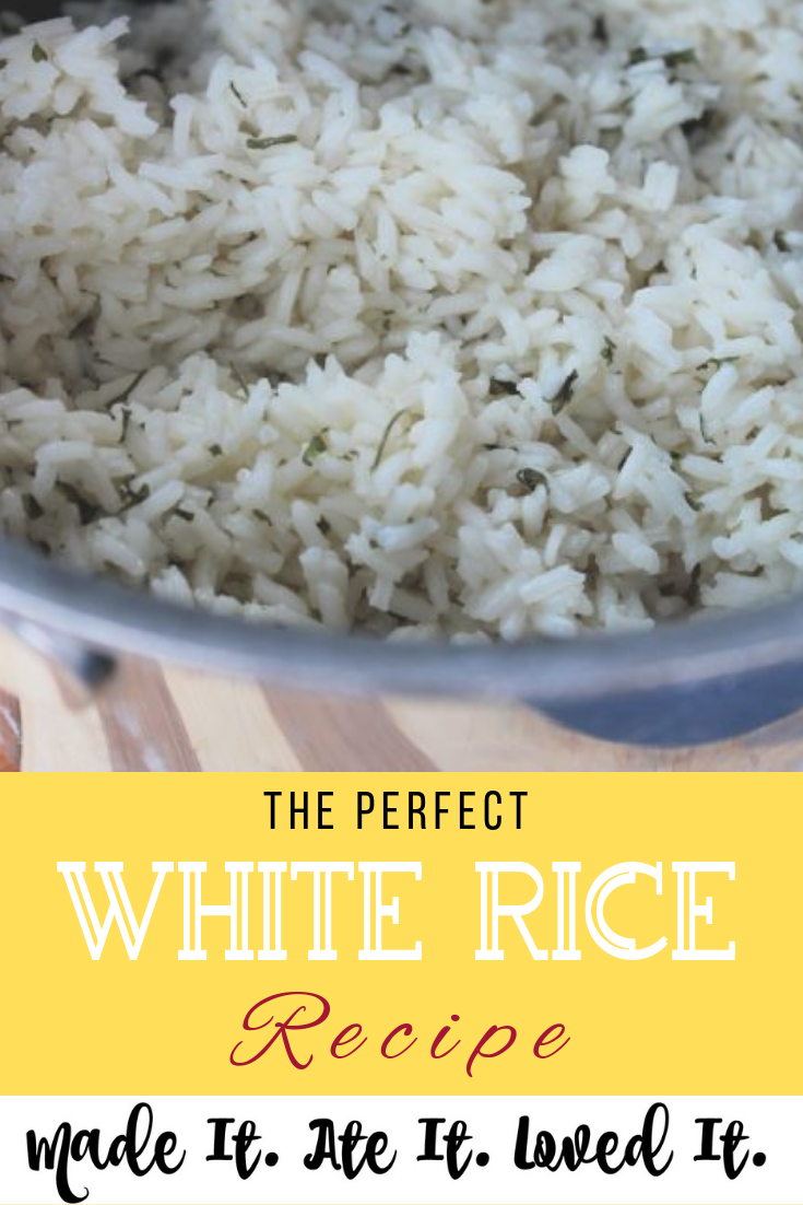 This is the PERFECT white rice recipe. #recipes #madeitateitlovedit #homemaderecipes #homestylecooking