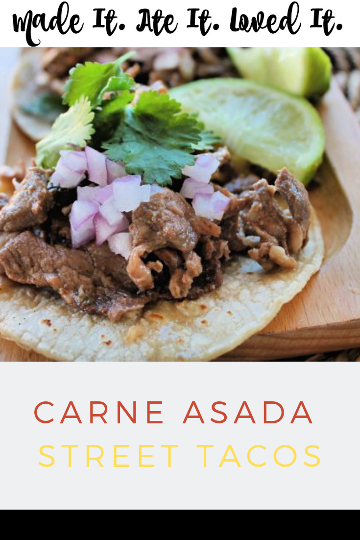 Looking for an authentic street taco recipe that you can make right at home? #carneasada #streettacos #madeitateitlovedit