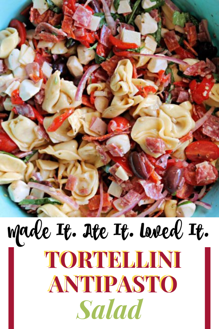 Tortellini Antipasto Salad Recipe Here is the best pasta salad recipe that is sure to be a hit for any occasion! It is not your average pasta salad recipe but so much more!  #pastarecipe #madeitateitlovedit #deliciousfood