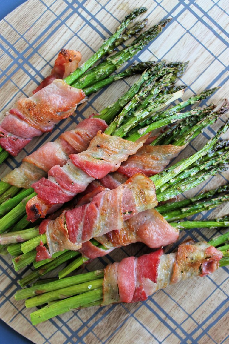 Oven Baked Bacon Wrapped Asparagus