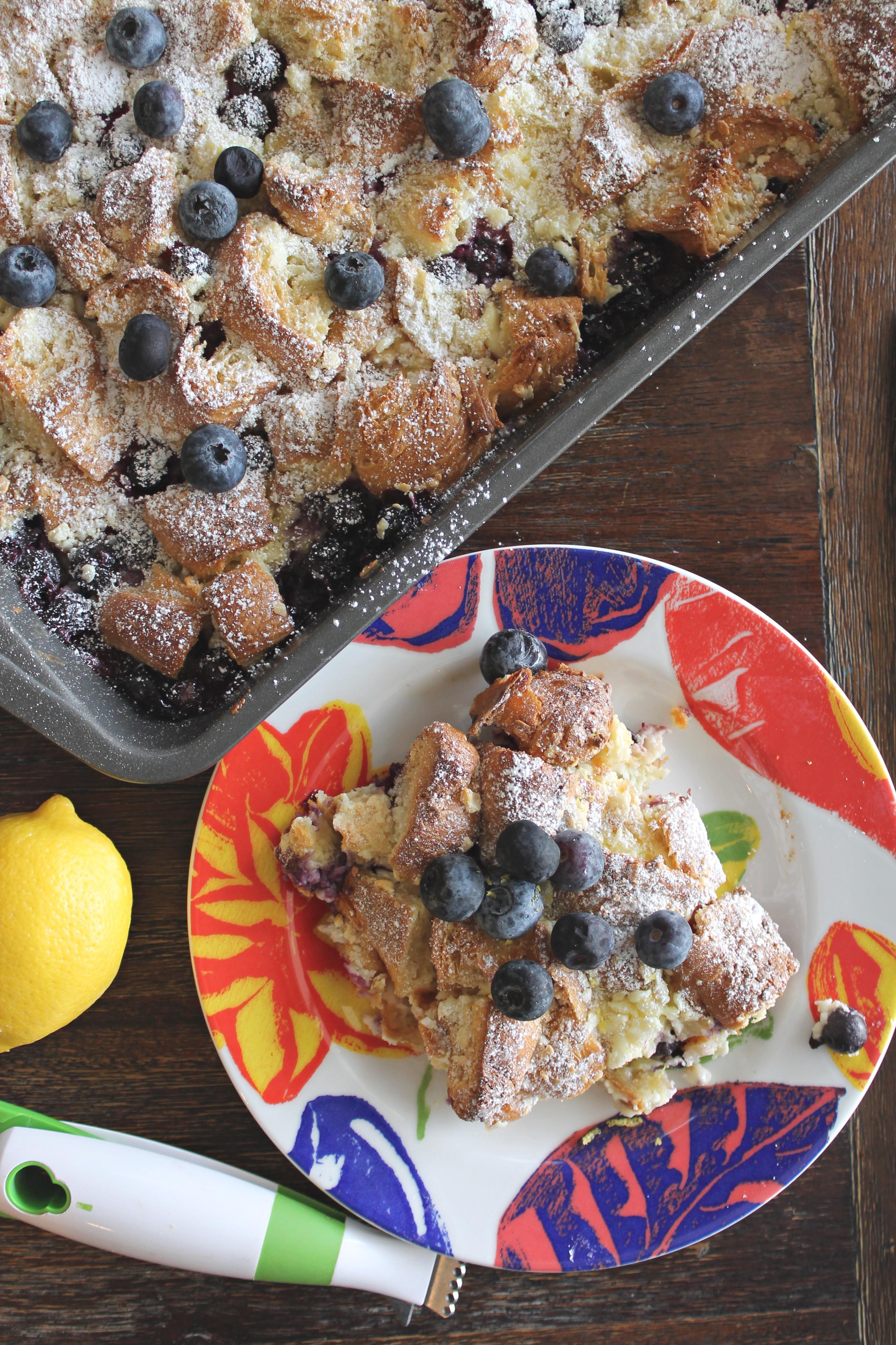 Blueberry Croissant Bake