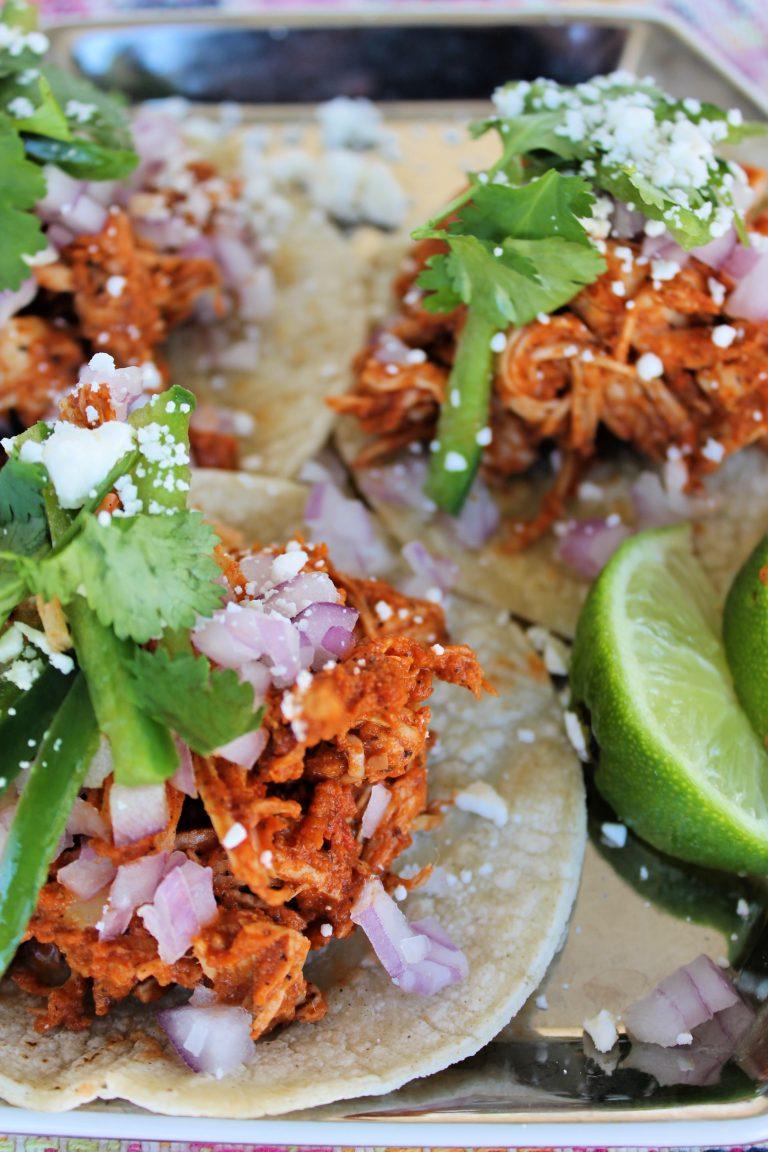 Chicken Tinga Street Tacos