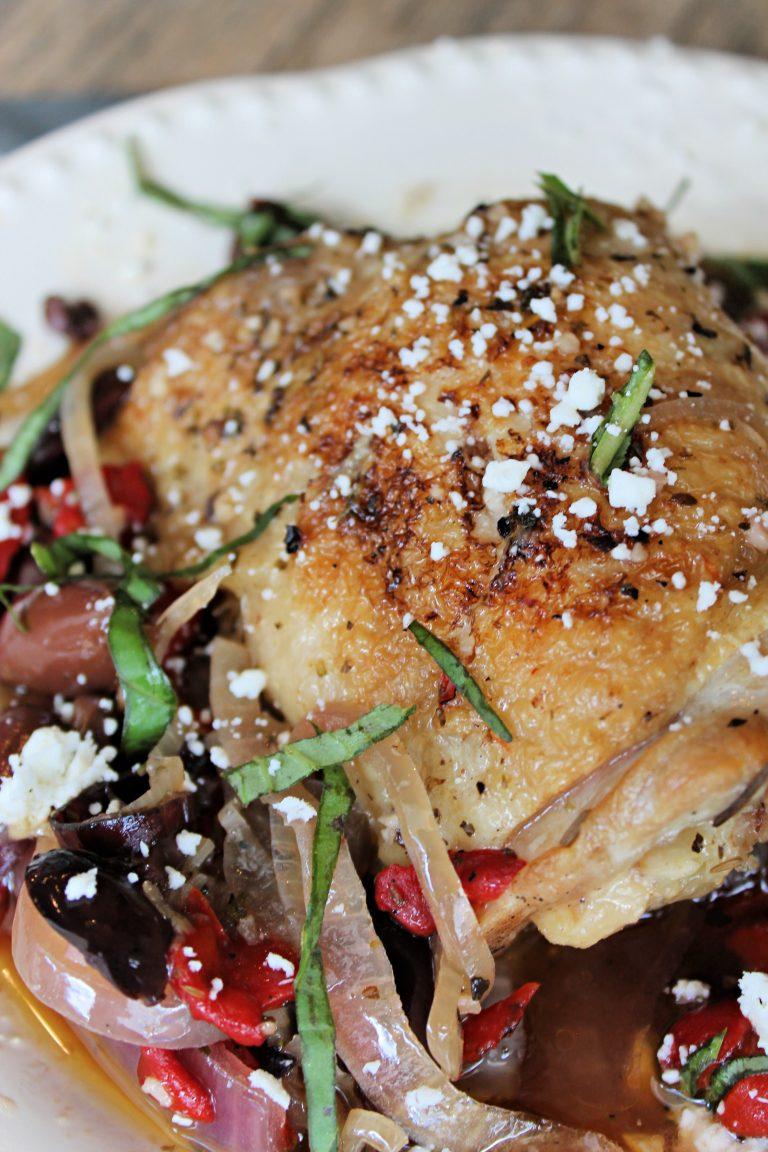 Slow Cooker Greek Chicken Thighs