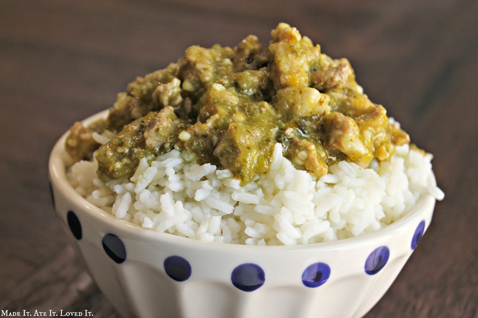 Pork Chili Verde and my favorite Rice
