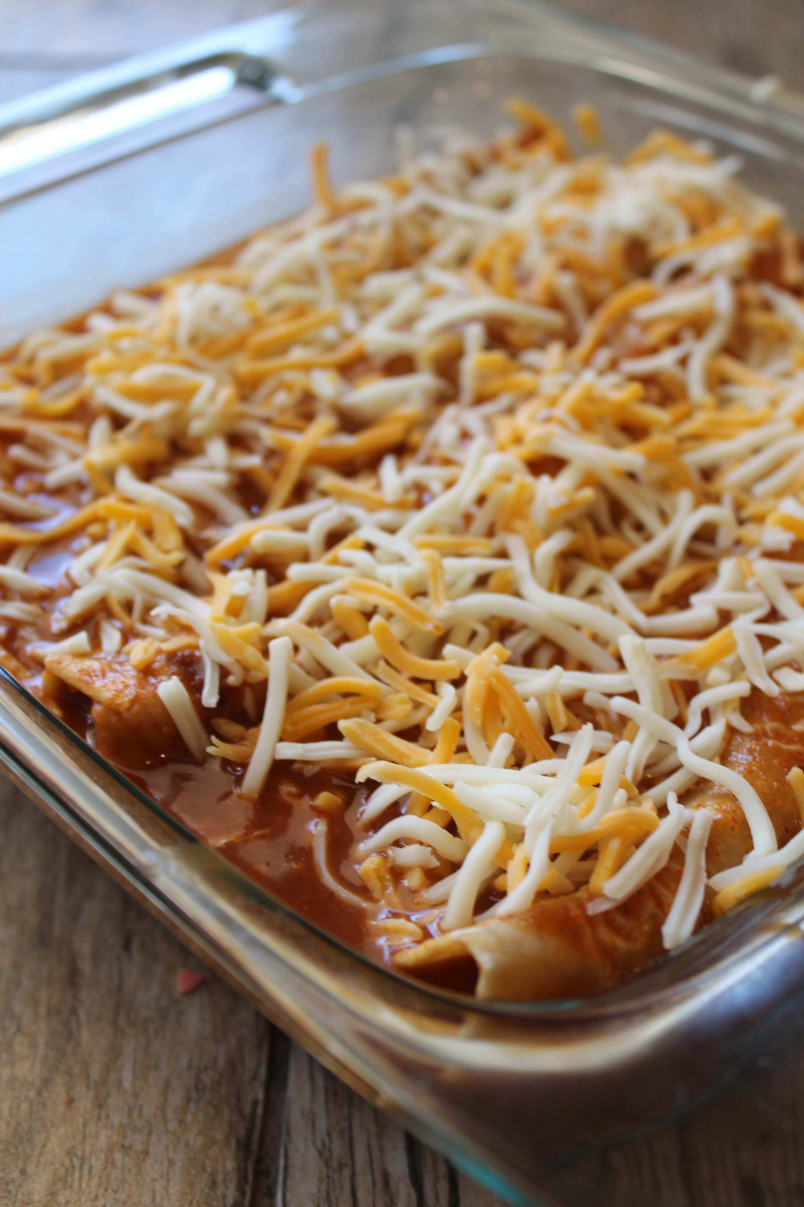 Bean and Cheese Burritos Enchilada Style