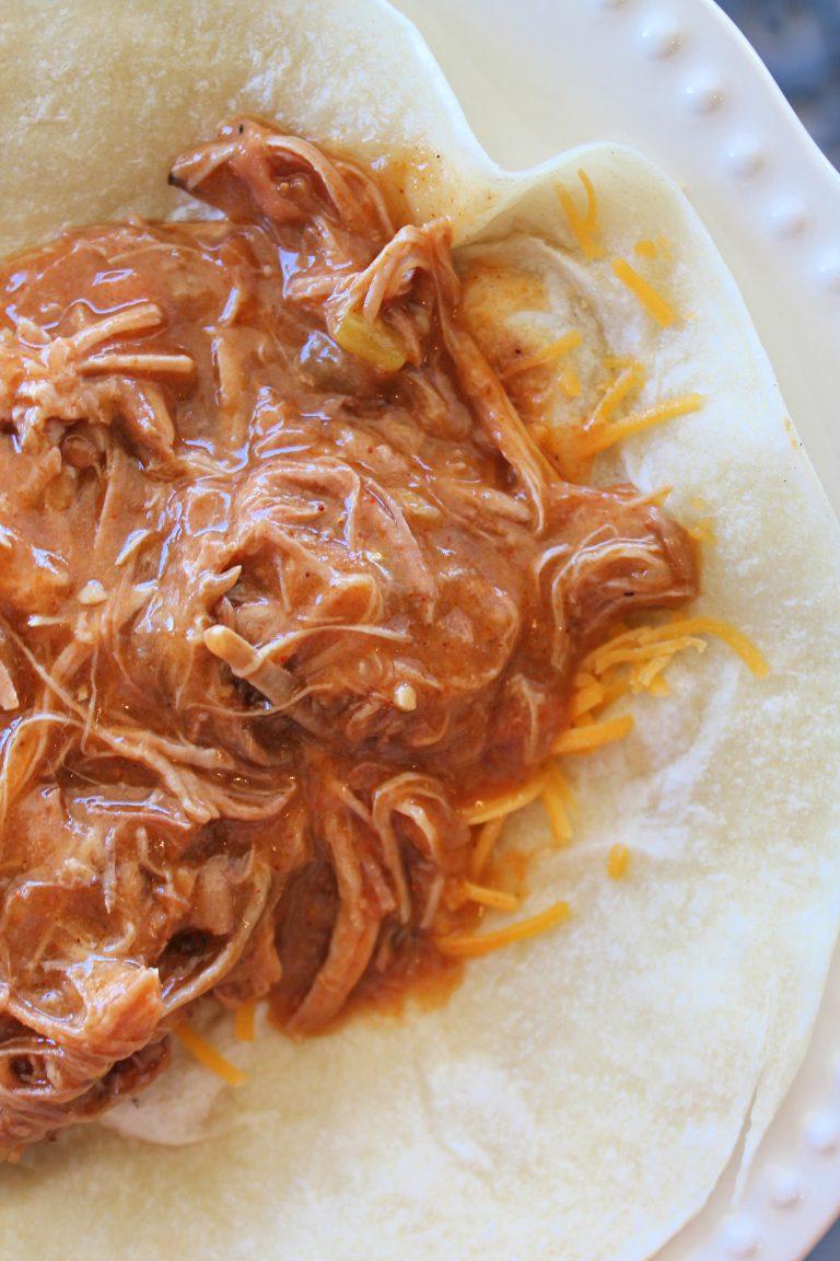 Crockpot Red Chili Burrito