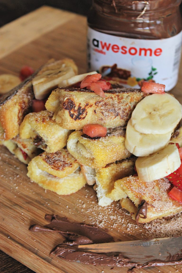 Nutella French Toast Roll Ups!