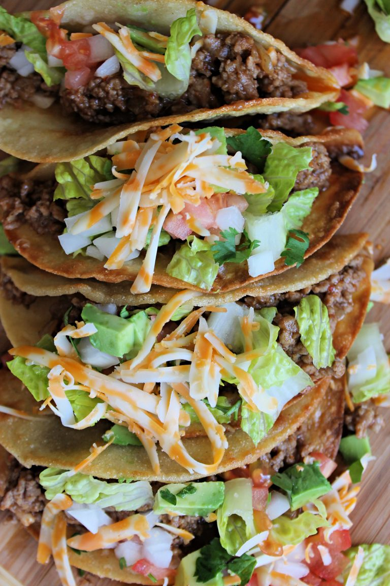 The best homemade crunchy tacos