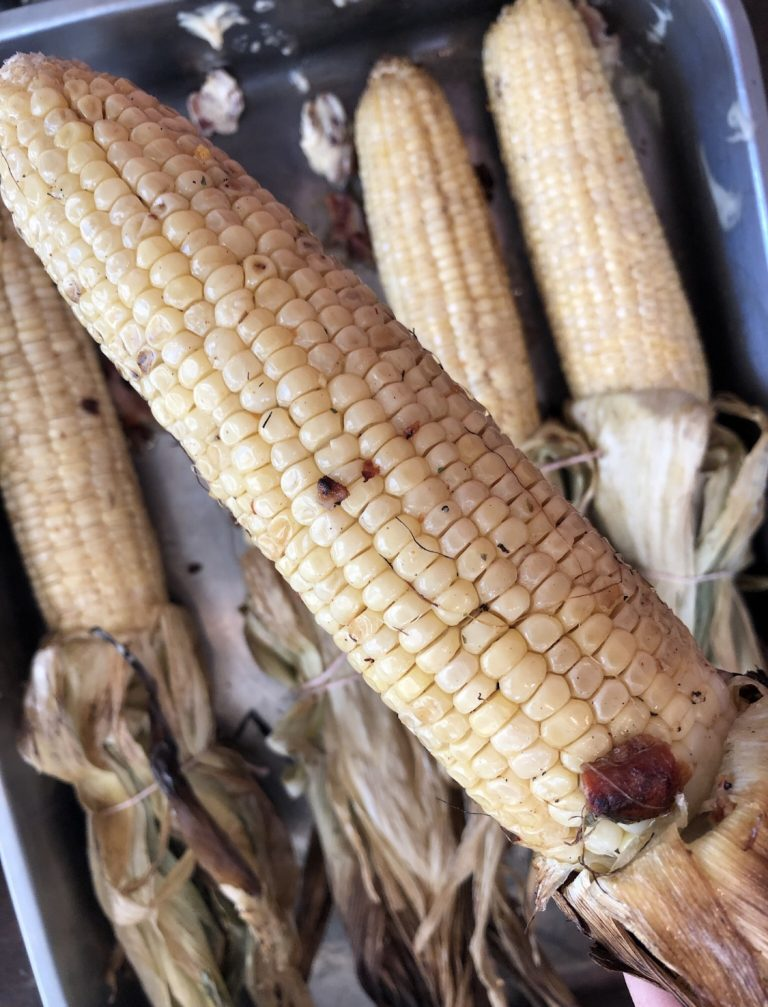 Corn with Bacon Butter