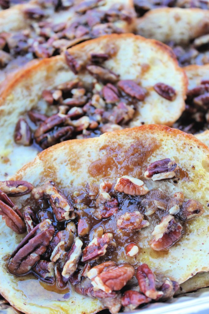 overnight french toast with pecans