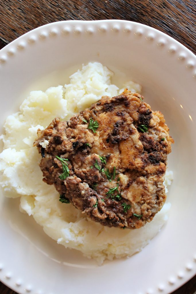 Country Fried Steak with mashed potatoes