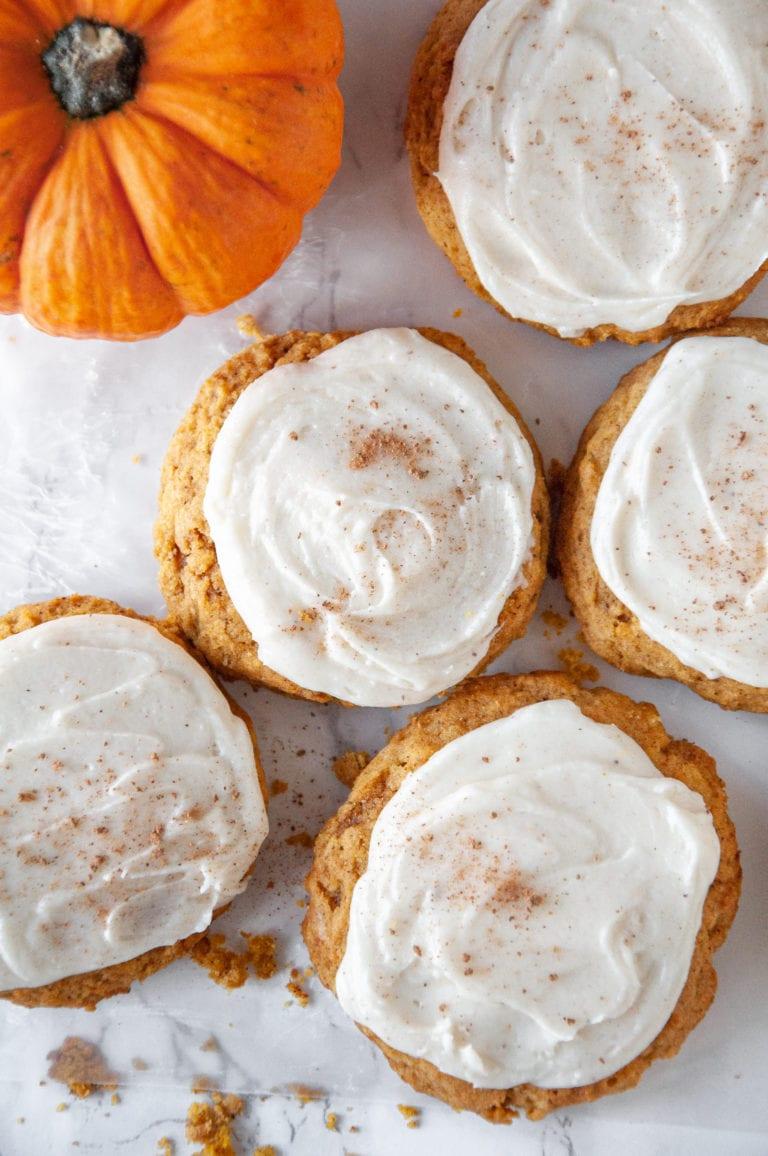 Super Moist Frosted Pumpkin Cookies