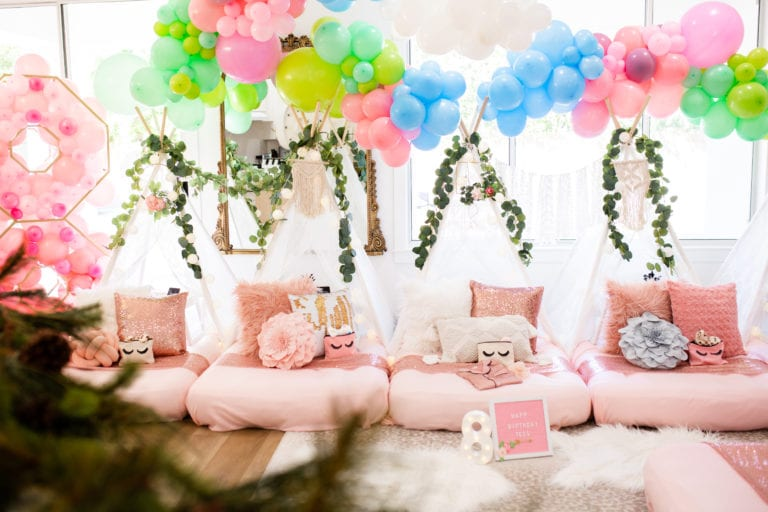 Glamping | Party for Little Girls
