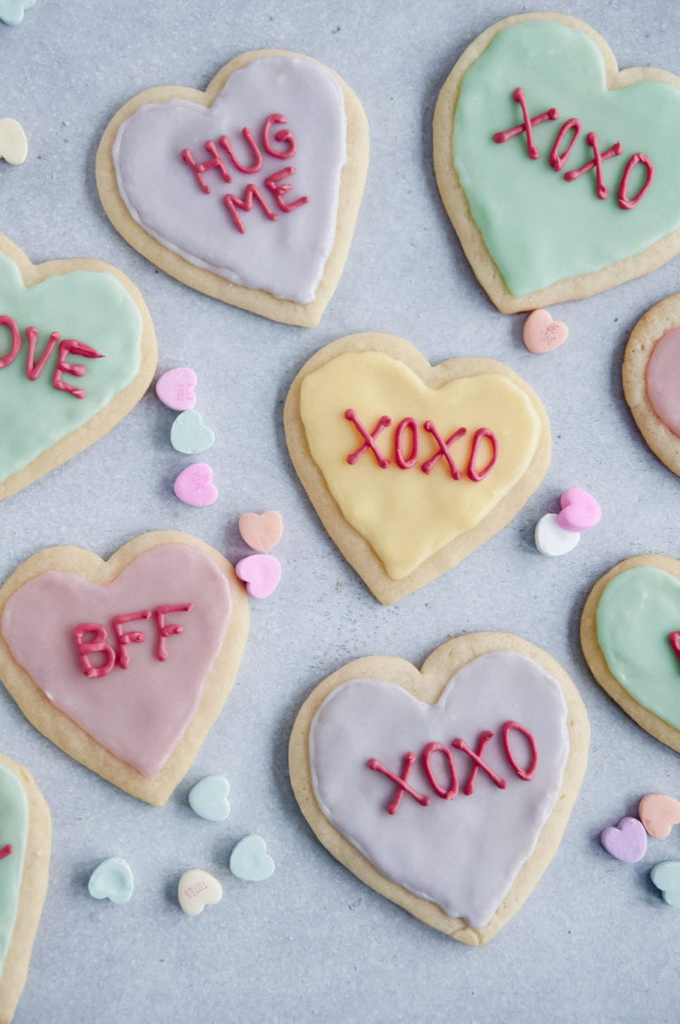 Heart Sugar Cookies for Valentines Day
